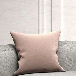 NWTO Blush Pink Cotton Velvet Cushion Covers